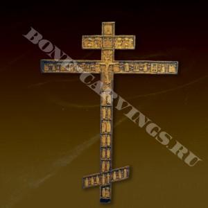 Крест - распятие - Русская резная кость -